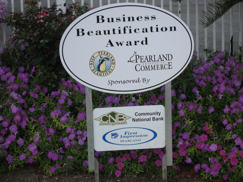 Pearland Chamber of Commerce Business Beautification Award